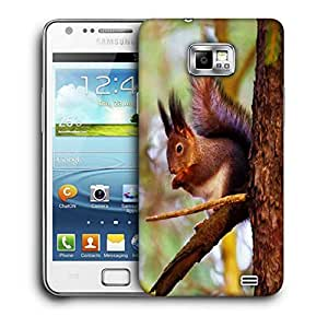 Snoogg Squarril Printed Protective Phone Back Case Cover For Samsung Galaxy S2 / S II