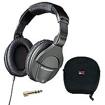 Sennheiser HD 280 Pro Headphones with Gator G-Micro Headphone Case Bundle