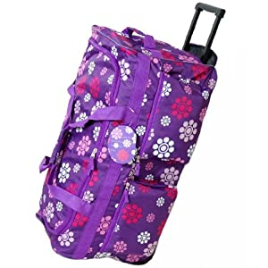 Large 27 Inch Wheeled Holdall Bag (Daisy Purple)