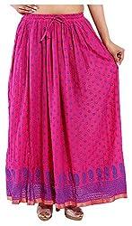 Magnus Women's Long Skirt (SKT497, Red, S)