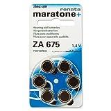 60 Renata Maratone Hearing Aid Batteries Size: 675