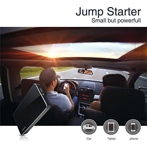 ANNKE® Jump Starter de 8000mAh, Pack de emergencia para arranque de coche (300A, 12V/16V/19V, linterna LED, cargador de batería para smartphone, tablet y portátil) - Negro