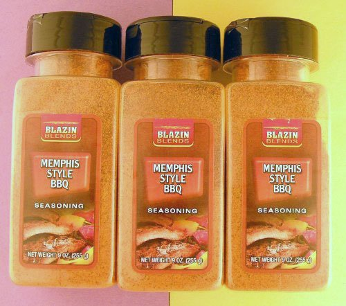 Blazin Blends Memphix Style BBQ Seasoning-Three Bottles
