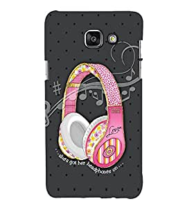 FUSON Headphones on Back Case Cover for Samsung Galaxy A7(2016)