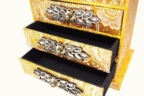 Geko 20,5 x 14 x 21,5 cm or stockage Bijou Bijoux Tiroirs