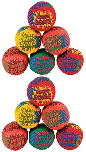 Splash Balls - Water Bombs For The Pool - Pack Of 12 - 1