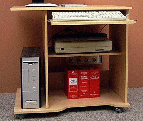 7-7-1678: deutsche Prod. – PC-Tisch – Computertisch – Buche dek. – Schreibtisch – auf Rollen günstig online kaufen