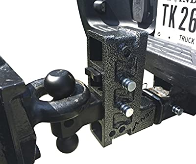 "GenY 524 2"" 15,000 lb Drop Hitch,Pintle/Ball Mount Combo Hitch,Tri-Ball Mount,Adjustable Pintle/Lunette"