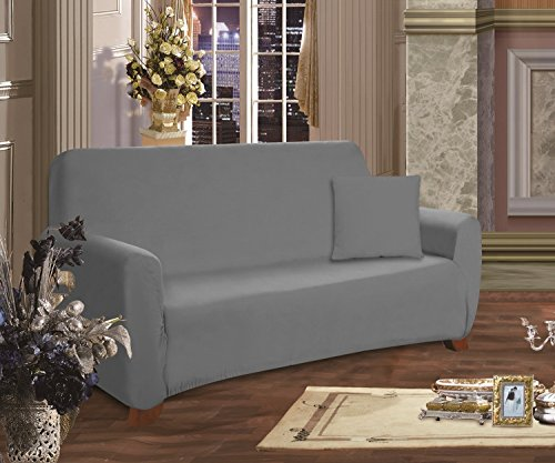 Elegant Comfort® Luxury Furniture Jersey STRETCH SLIPCOVER, Sofa Gray