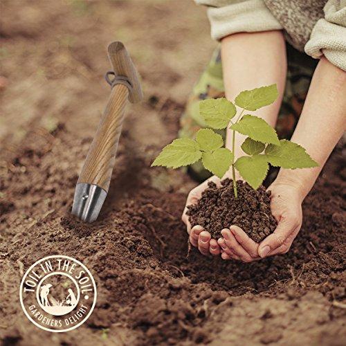 Toil in the soil hand held bulb planter dibbler strong for Hand held garden spade