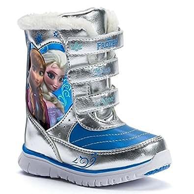 Amazon.com: Disney Frozen Winter Boots Elsa & Anna - Light