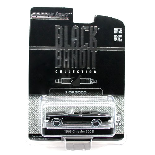 1963 CHRYSLER 300 K * BLACK BANDIT COLLECTION SERIES 8 * 2013 Greenlight Collectibles 1:64 Scale Vehicle Die-Cast (Limited Edition / 1 of only 3,000)