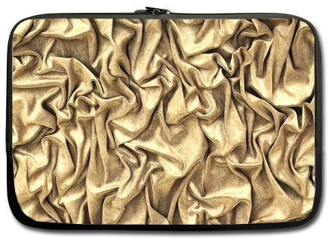 Fashion Shine Bling Golden 11 Inch Laptop Sleeve Bag For Laptop / Notebook / Ultrabook / Macbook front-25056