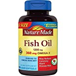 Nature Made Fish Oil, 1200 mg, Liquid Softgels, Value Size, 180 softgels