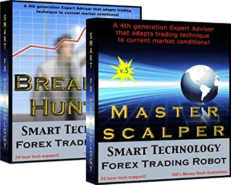 Master Scalper + Breakout Hunter Combo Pack - Trade Currency online 24 hours a day with the same trading robots the Pros use to scalp the FOREX market.  Fully automated - No programming and No trading experience required - Plug & Trade. Make Money from home with No stress.