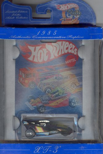 Hot Wheels 30 years AUTHENTIC COMMEMORATIVE REPLICA limited edition 1985 black XT-3 1:64 Scale Die-cast Collectible Car 1:64 Scale - 1