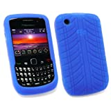 EMARTBUY BLACKBERRY 8520 CURVE TYRE TREAD SILICON CASE/COVER/SKIN BLUEby EMARTBUY