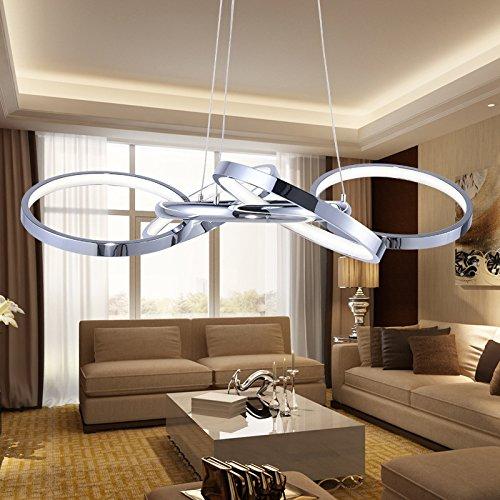 Ancernow E27 caldo creativo moda lampade a sospensione Anello di led arte, 69*H100CM (regolabile in altezza) Lampadari per soggiorno, camera da letto, bar, caffetteria, ristorante, corridoio, camera bambini