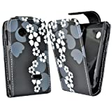 Accessory Master Leather Case for Sony Xperia Tipo ST21i Flowers Design White