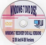 Windows 7 32bit/64bit Install for Home Basic, Home Premium, Professional, or Ultimate (Repair-Restore-Reinstall) [DVD-ROM] Windows 7
