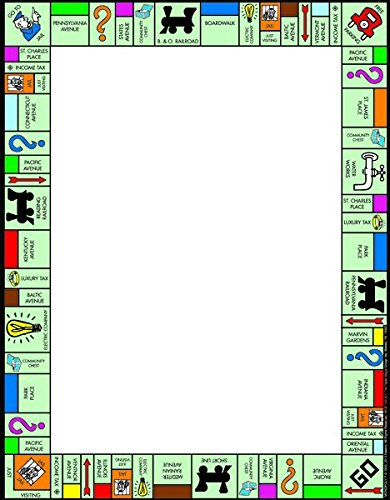 "Eureka Monopoly 8 x 11"" Computer Paper Frame, 50-Sheets"