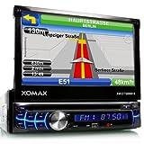 XOMAX XM-DTSBN918 Autoradio / Moniceiver / Naviceiver mit GPS Navigation + NAVI Software Pocket Navigator 12 (Q3/2013) inkl. Europa Karten (39 Länder) + Bluetooth Freisprecheinrichtung inkl. Telefonbuch-Import + 7