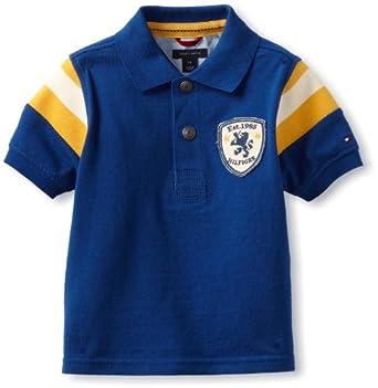Tommy Hilfiger Little Boys' Justin Short Sleeve Polo, Limoges Blue, 2 Regular