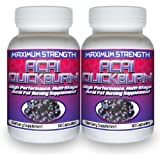 Acai Quick Burn (2 Bottles) The #1 Rated Acai Berry Fat Burner w/ Garcinia Cambogia, All Natural Weight Loss Diet Pillby Acai Quick Burn High...