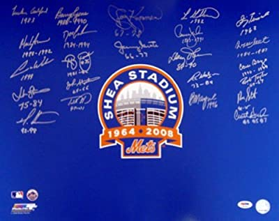 New York Mets Team Greats Autographed 16x20 Photo With 23 Signatures Psa/dna Stock #10770