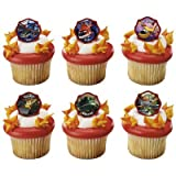 *FREE STANDARD SHIPPING - 24 Rings - Disney Planes Dusty & Buddies - Official Crispie Sweets Cupcake Topper KIT - w/ Dusting Sugar Sampler & Bonus Card - We Ship Within 1 Business Day w/ *FREE Standard Shipping!