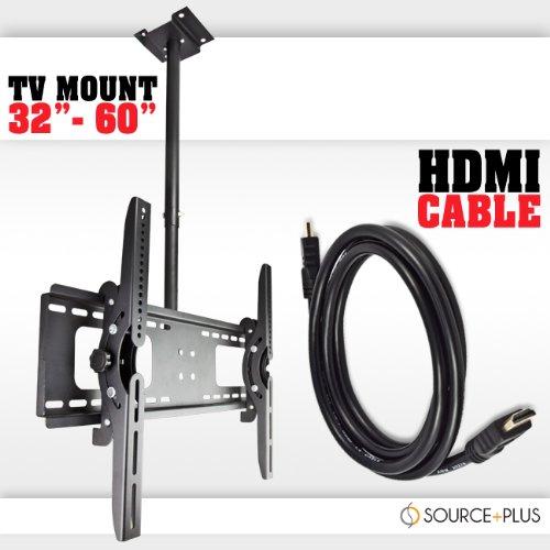 "Ceiling Tilt Tv Wall Mount 32 37 42 46 50 52 60"" Lcd Led Plasma Display Flat Screen Free Hdmi"
