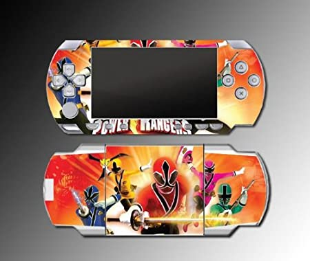 Mighty Morphin Power Rangers MMPR Megazord game Vinyl Decal Skin Protector Cover #4 for Sony PSP 1000 Playstation Portable