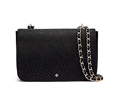 Tory burch robinson perforated adjustable shoulder bag for Tory burch jewelry amazon
