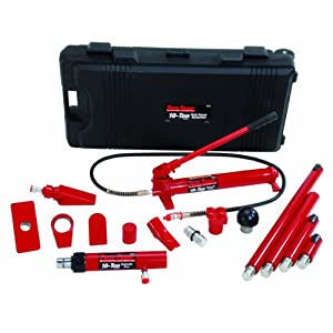 Porto-Power B65115 Black/Red Hydraulic Body Repair 19 Piece Kit - 10 Ton Capacity by Porto-Power
