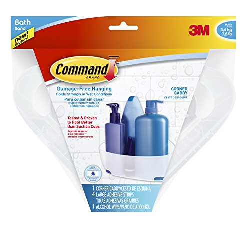 Command Corner Caddy with Water-Resistant Strips (BATH12-ES) (Command Soap Dish compare prices)