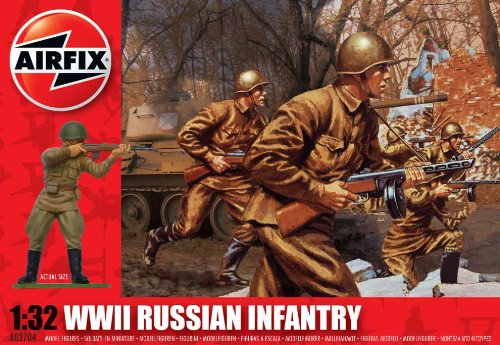 Airfix A02704 WWII Russian Infantry 1:32 Scale Military Series 2 Figures