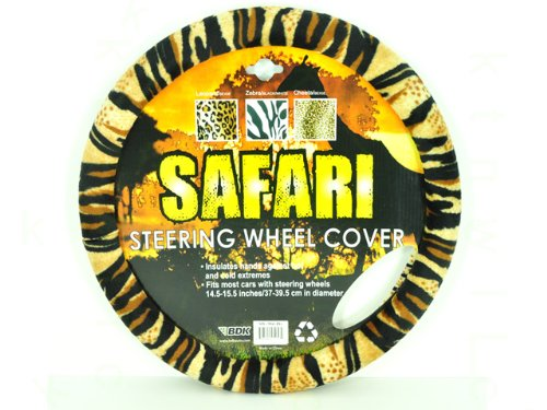 Animal Print Steering Wheel Cover - Tiger (Fuzzy Tiger Steering Wheel Cover compare prices)