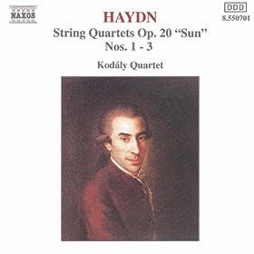 Haydn: String Quartets Op. 20, Nos. 1- 3, 'Sun Quartets'