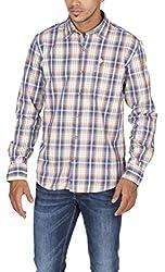 US Polo Assn. Men's Slim Fit Cotton Shirt (USSH3417_Multi-Coloured_S)