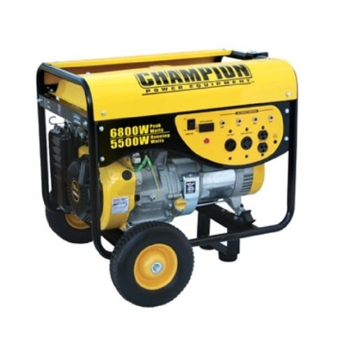 Champion Power Equipment 41135 6,800 Watt 338cc 4-Stroke Gas Powered Portable Generator (CARB Compliant)