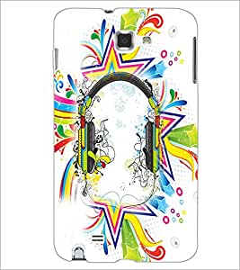PrintDhaba Abstract Design D-2991 Back Case Cover for SAMSUNG GALAXY NOTE 1 (Multi-Coloured)