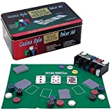 Casino Style Texas Hold'em Poker Chip Set 200 Pcs with Layout