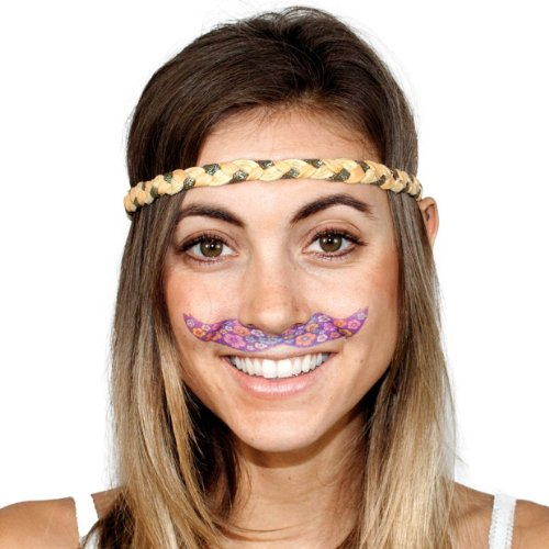 StacheTATS The Flower Patch Temporary Mustache Tattoo