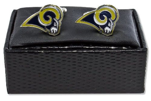 NFL St. Louis Rams Cut Out Logo Cuff Link, Silver
