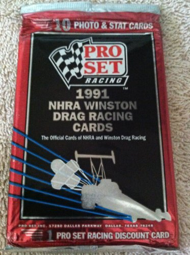 Pro Set 1991 NHRA Winston Drag Racing Cards Pack - 1