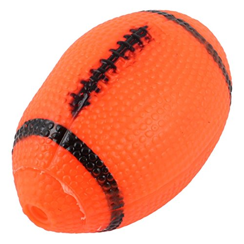 uxcell ペット玩具 噛むおもちゃ 犬おもちゃ オレンジ 赤 ラグビー ボール型 バンピー表面