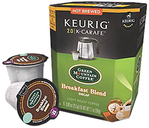 Green Mountain Coffee Breakfast Blend Decaf (8 Count) (Kcups Carafe Decaf compare prices)