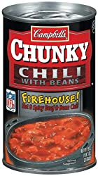 Campbell's Chunky Firehouse Hot and Spicy Chili, 19-Ounce Cans (Pack of 12)