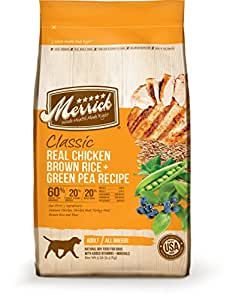 Merrick Classic Real Chicken, Brown Rice and Green Pea Dog Food, 5-Pound