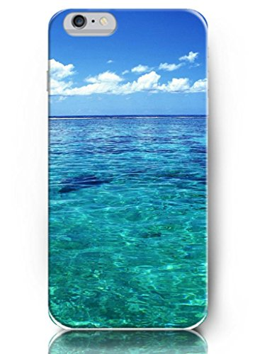 Ouo New Unique Vintage Hard Cover For 4.7 Inch Iphone 6 Case Blue Sky And Blue Sea Water